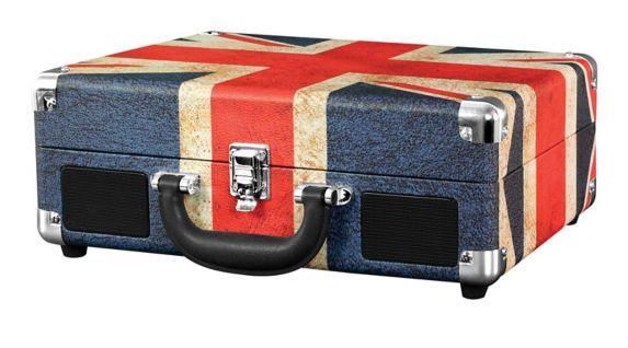 Innovative Technology Suitcase Turntable, Union Jack Pattern