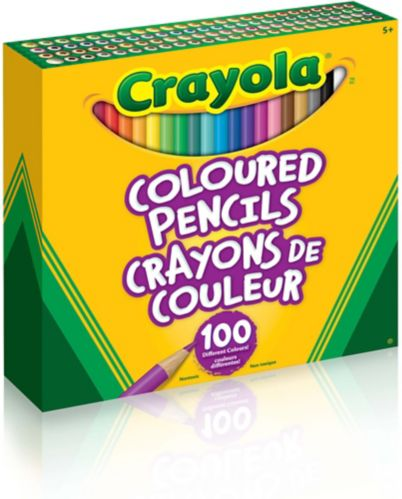 Crayola Coloured Pencils, 100-pk