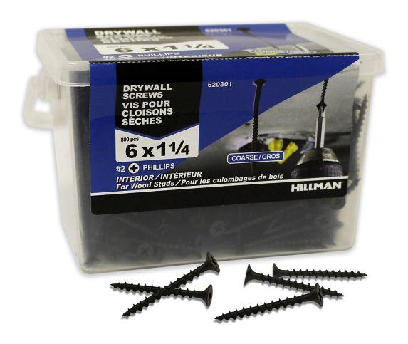 Drywall Screws, #6 x 1-1/4-in, 800-pc