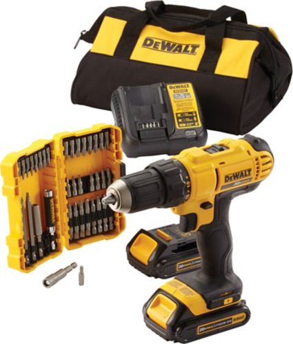 DEWALT DCD771C2BA 20V MAX 1/2-in Compact Drill/Driver Kit with Accessory Kit, 1.3Ah Product image