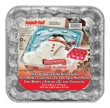 Handi-Foil Square Snowman Baking Pan and Lid, 3-pcs | Handi-Foilnull