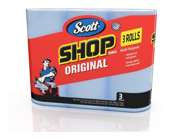 Scott Shop Blue Towels, 3-pk Product image