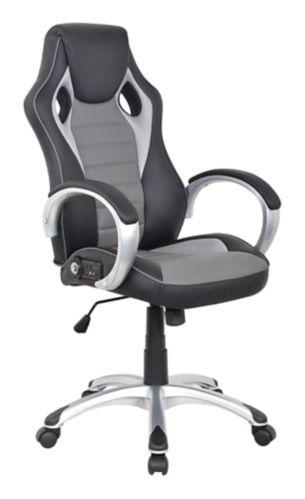 X Rocker Office Sound Chair, 2.0 Bluetooth, Black/Grey