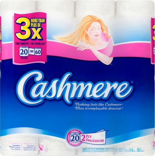 Cashmere 2-Ply Toilet Paper, 20-Roll