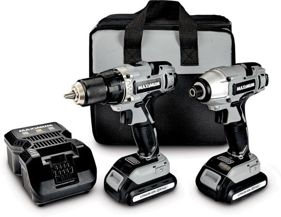 MAXIMUM 20V Max Li-Ion Cordless Drill & Impact Driver Combo Kit with Bonus 2Ah Battery Product image