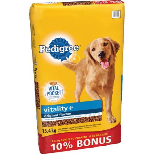 Pedigree Vitality Original Flavour Dog Food Bonus Bag, 15.4-kg Product image
