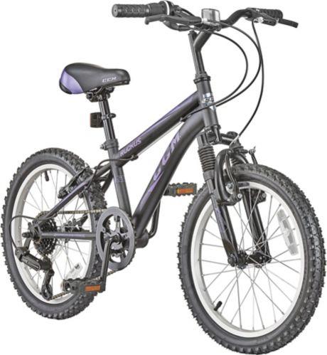 CCM Ruckus Kids' Bike, Black/Purple, 18-in Product image