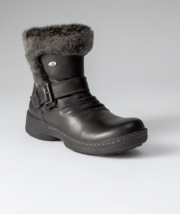Denver Hayes: Denver Hayes Bailey Leather Low-cut Fleece Boots