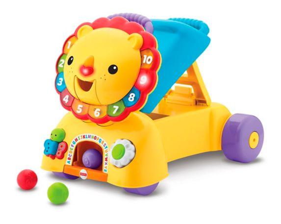 Lion 3-en-1 pour s'asseoir, marcher et rouler Fisher-Price