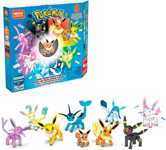 Ensemble de construction Mega Construx Pokémon Évolution Évoli