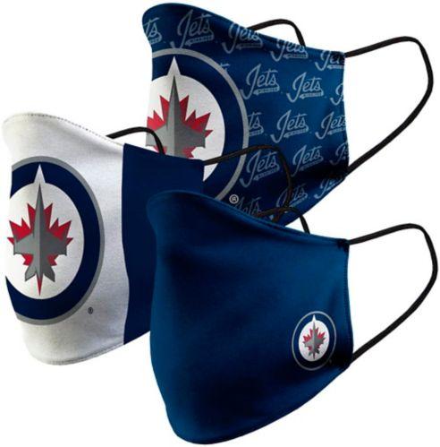 Couvre-visage en tissu des Jets de Winnipeg, paq. 3 Image de l'article