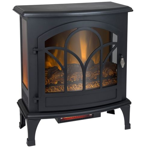Muskoka Curved Panoramic Infrared Electric Stove, Black, 25-in Product image