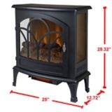 Muskoka Curved Panoramic Infrared Electric Stove, Black, 25-in | Muskokanull