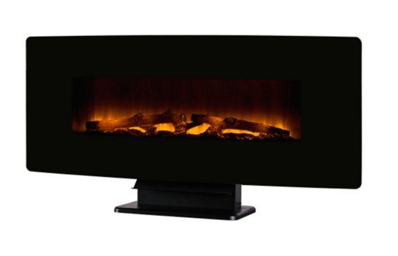Muskoka Wall Mount Fireplace, Black, 48-in Product image