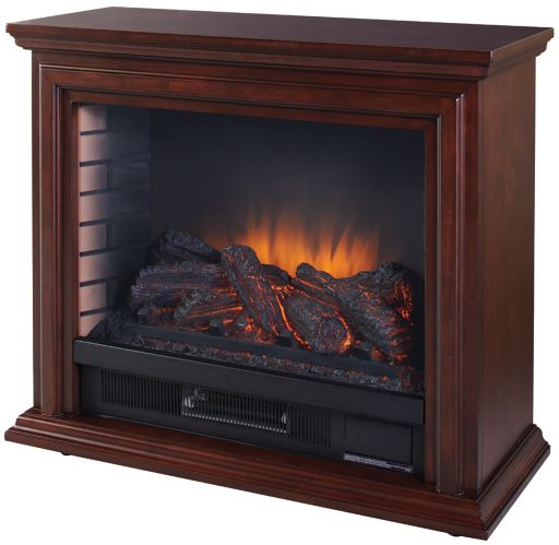 Pleasant Hearth Sheridan Infrared Mobile Fireplace, Cherry Product image