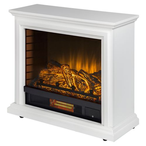 Pleasant Hearth Sheridan Infrared Mobile Fireplace, White Product image