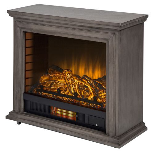 Pleasant Hearth Sheridan Infrared Mobile Fireplace, Grey Product image