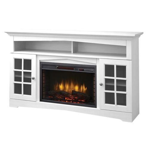 Muskoka Huntley Media Fireplace, White, 59-in Product image