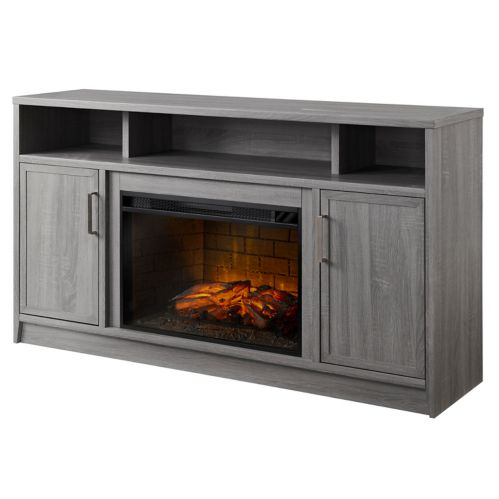 Muskoka Brooklyn Infrared Media Electric Fireplace, Grey Product image