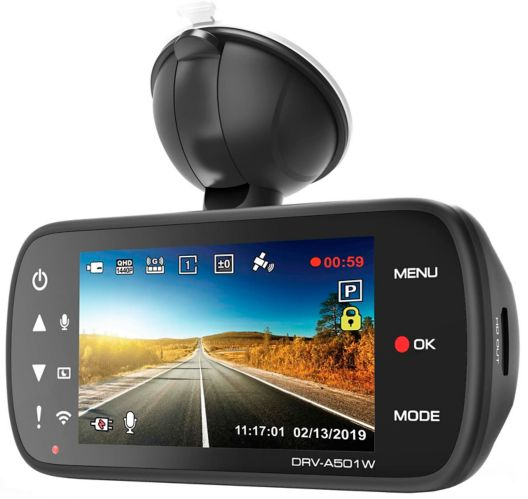 Kenwood DRV-A501WDP 2-Channel Dash Camera
