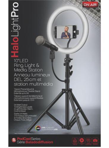 Station multimédia Tzumi On Air Halo Light Pro