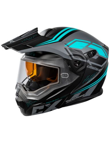 Castle X CX950 Siege Snowmobile Helmet, Matte Black/Turquoise Product image
