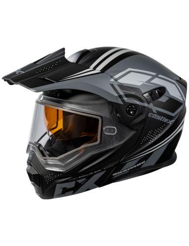 Castle X CX950 Siege Snowmobile Helmet, Matte Black/Charcoal Product image