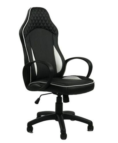 ViscoLogic Infinity Gaming Chair, Black/White Product image
