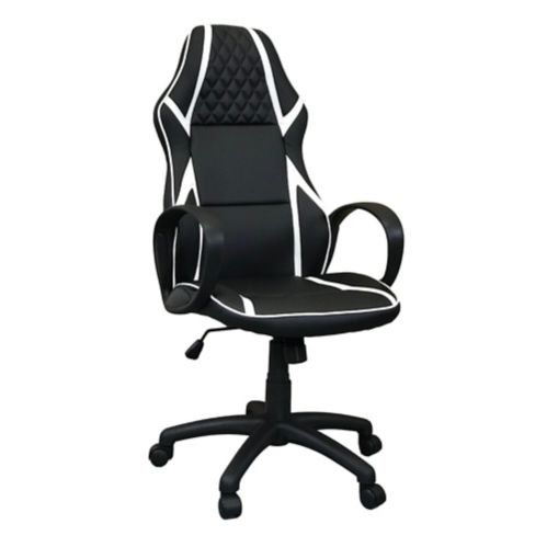 ViscoLogic Infinity Gaming Chair, White/Black Product image
