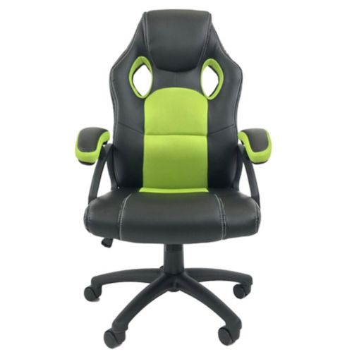 ViscoLogic Maze Gaming Chair, Black/Green Product image