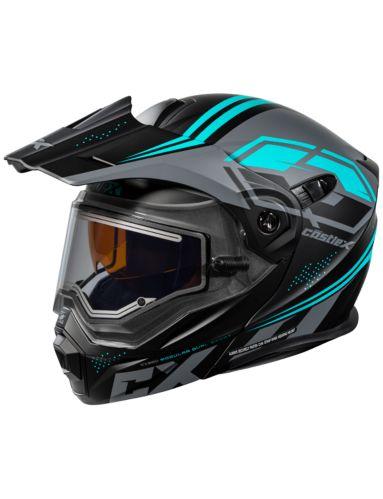 Castle X EL CX950 Siege Snowmobile Helmet, Matte Black/Turquoise Product image