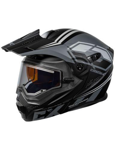 Castle X EL CX950 Siege Snowmobile Helmet, Matte Black/Charcoal Product image