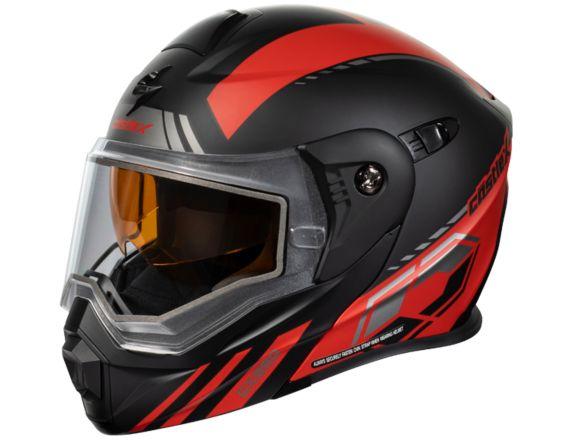 Castle X CX950 TASK Snowmobile Helmet, Matte Red/Black Product image