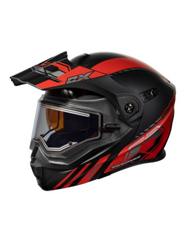 Castle X EL CX950 TASK Snowmobile Helmet, Matte Red/Black Product image