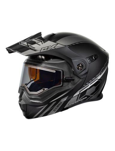 Castle X EL CX950 TASK MT Snowmobile Helmet, Grey/Black Product image