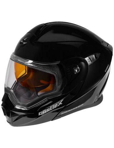 Castle XCX950 Snowmobile Helmet, Black Product image