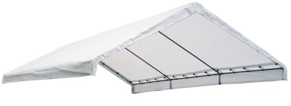 ShelterLogic Super Max™ Fire Rated White Canopy Replacement Cover for 2-in Frame, 18-ft x 20-ft Product image