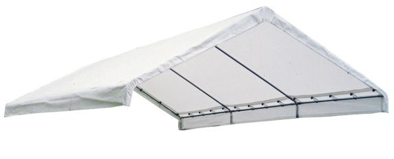 ShelterLogic Super Max™ Fire Rated White Canopy Replacement Cover for 2-in Frame, 18-ft x 40-ft Product image