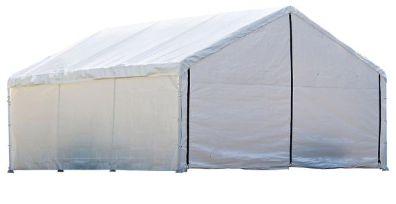 ShelterLogic Super Max™ Fire Rated White Canopy Enclosure Kit, 18-ft x 40-ft Product image