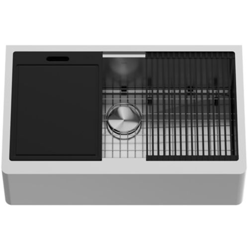 VIGO Oxford Single Bowl Stainless Steel Kitchen Sink, 33-in Product image