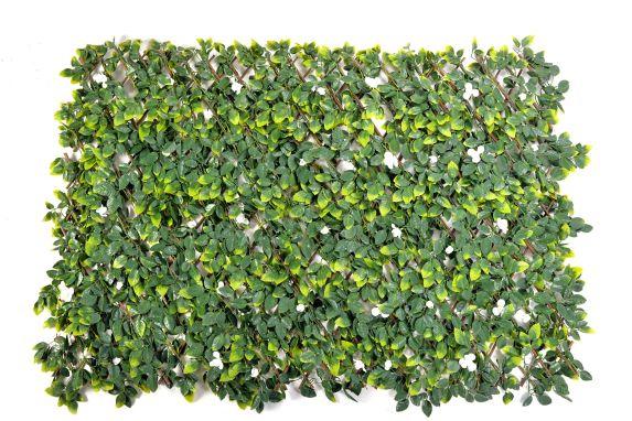 Treillis extensible avec roses blanches Naturae Décor Image de l'article