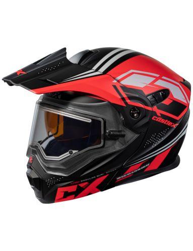 Castle X EL CX950 Siege Snowmobile Helmet, Matte Black/Red Product image