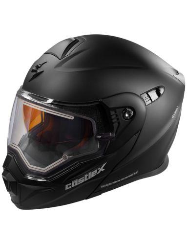 Castle X EL CX950 Snowmobile Helmet, Matte Black Product image