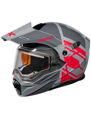 Castle X EL CX950 HEX Snowmobile Helmet, Charcoal/Red Product image