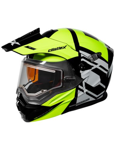 Castle X EL CX950 HEX Snowmobile Helmet, H-Vis/Black Product image