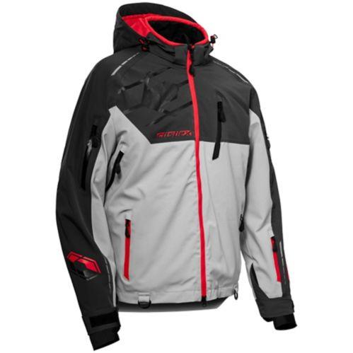 Manteau d'hiver Castle X Flex, homme, anthracite/argent/rouge