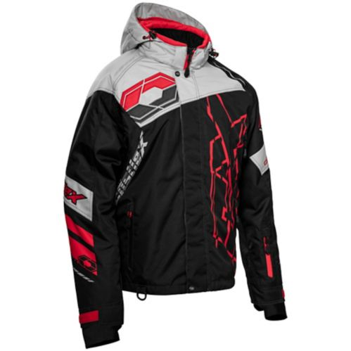 Castle X Code-G2 Men's Snow Jacket, Black/Silver/Red Product image