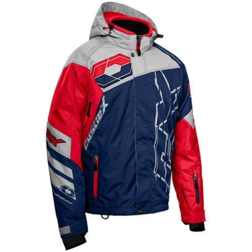 Castle X Code-G2 Men's Snow Jacket, Navy/Silver/Red Product image
