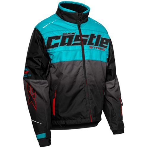 Castle X Strike-G3 Jacket, Turquoise/Red/Black Product image