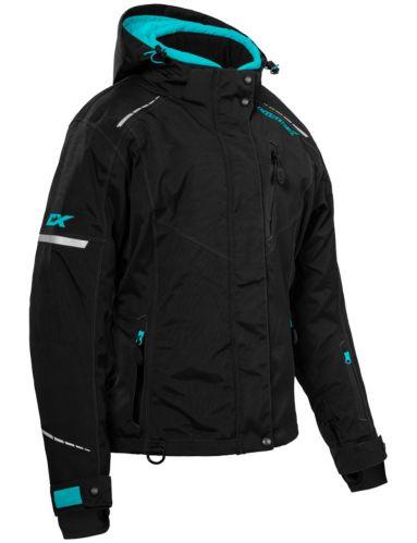 Castle X Polar Women's Snow Jacket, Black/Turquoise Product image